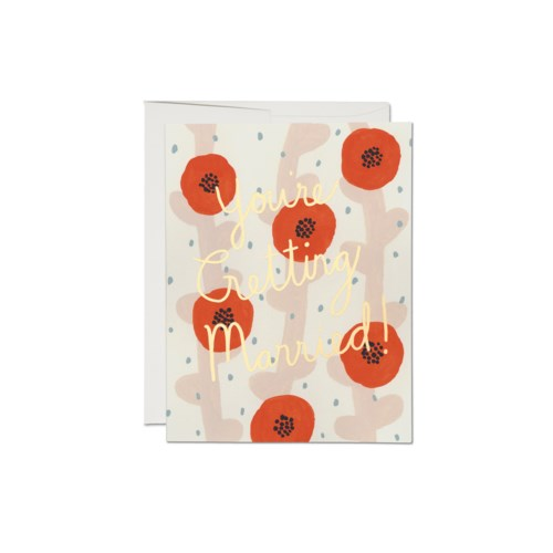 Getting Married Poppies Card