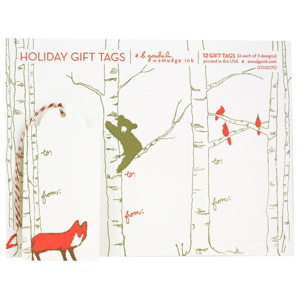 Winter Animal Gift Tags