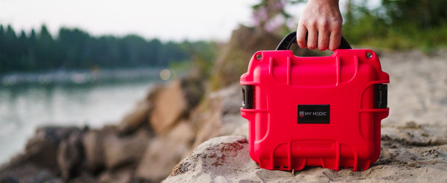 Compact and lightweight first-aid kit for your boat trip, packed with most emergency essentials