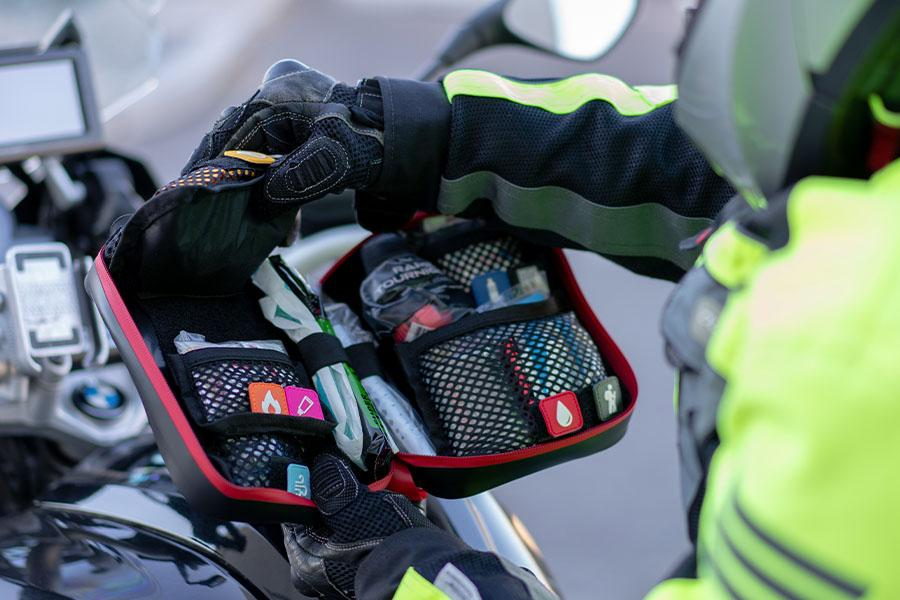 The off road trauma medic kit by My Medic features multiple layers design