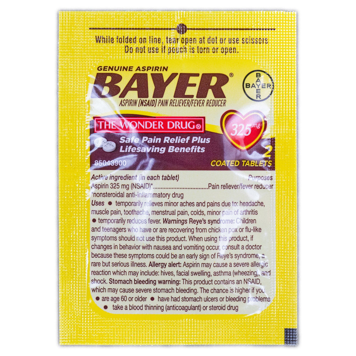 Bayer Aspirin Packet