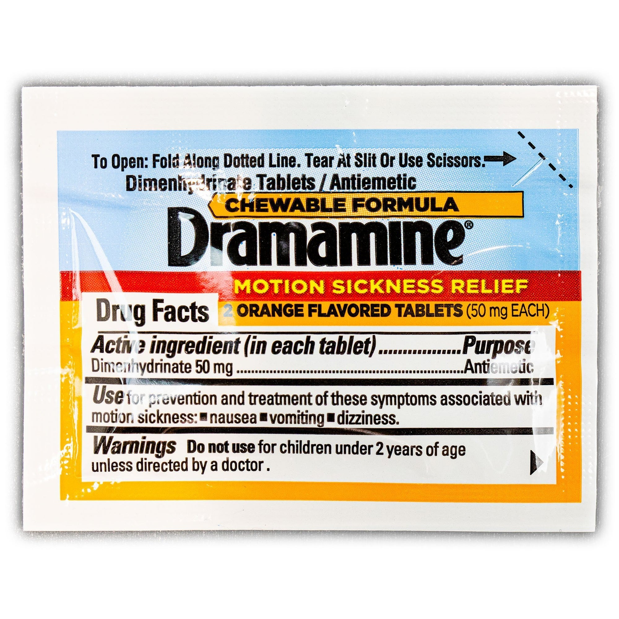 Dramamine Nausea Relief Packet