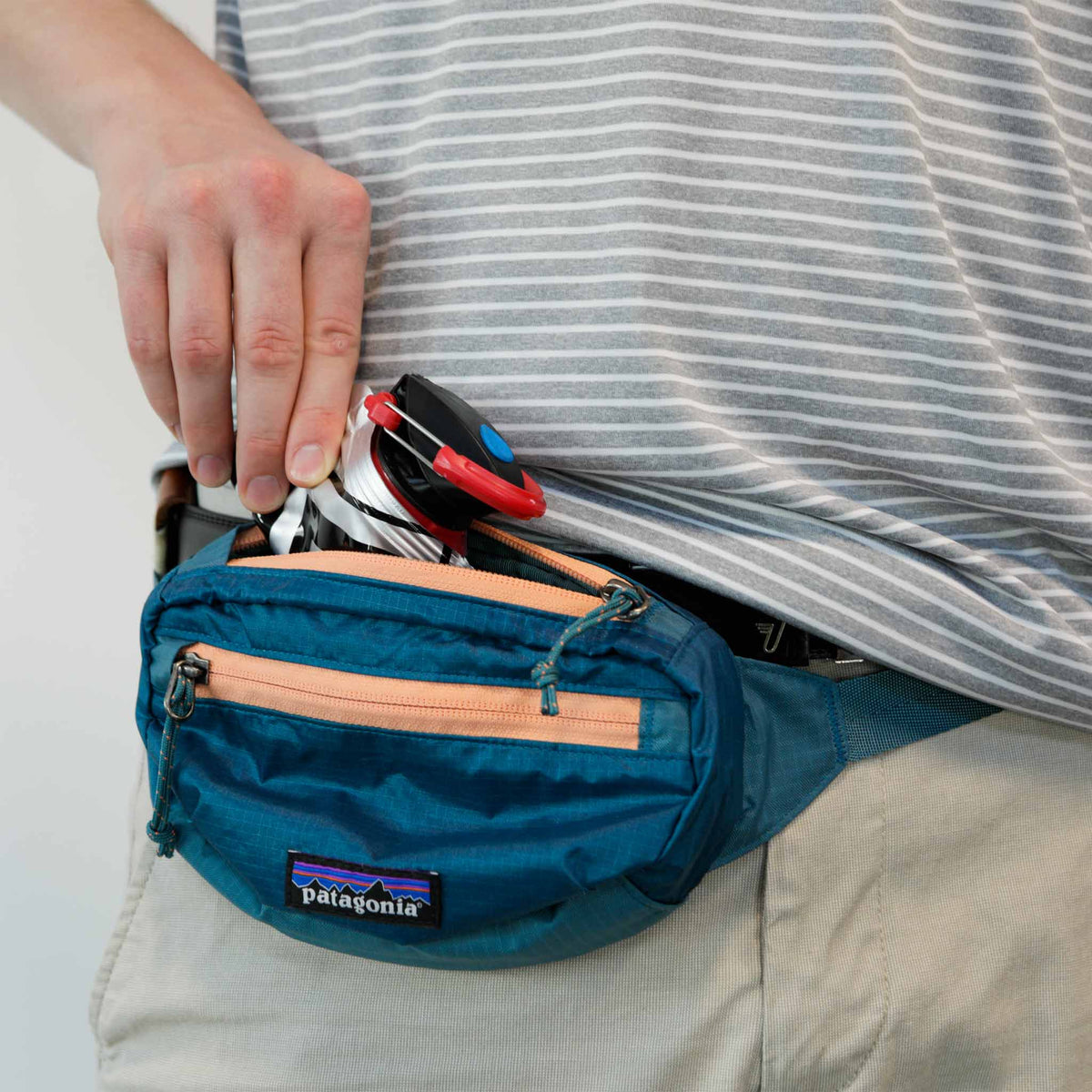 mymedic water bottle in fanny pack pouch