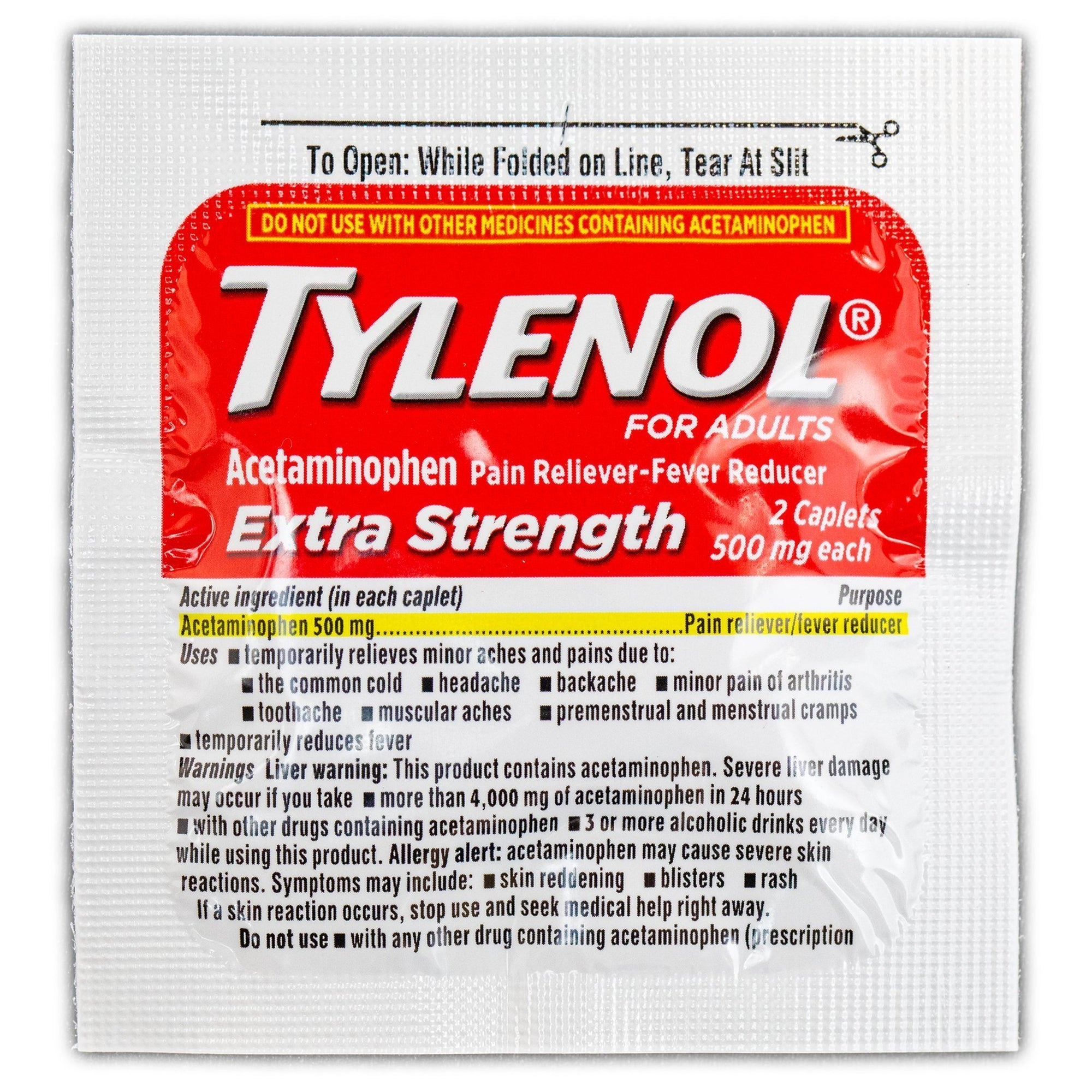 Tylenol Acetaminophen Extra Strength Packet