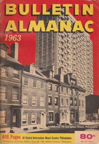1963 Bulletin Almanac Published in Philadelphia Pa Useful information + Vintage advertising