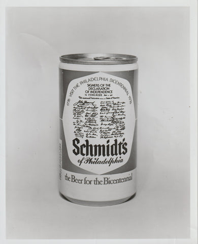 Schmidt's of Philadelphia Bicentennial Beer 1776 - 1976 Promotional Can Photo 10x8inch