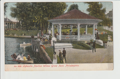 Lakeside Pavilion Willow Grove Park Philadelphia No 1010 from the Philadelphia Post Card Co Willow Grove Abington Township Montgomery County Pennsylvania