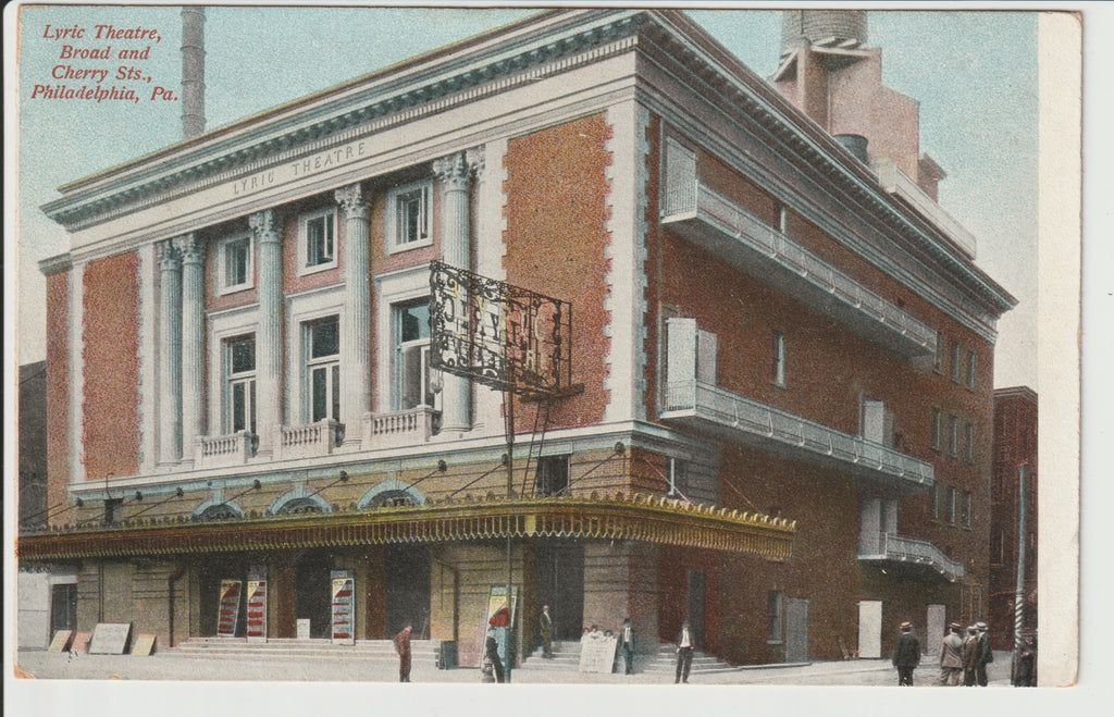 1910 Lyric Theatre of Broad St and Cherry Street Built 1905 Demolished 1937 an Un-Posted View