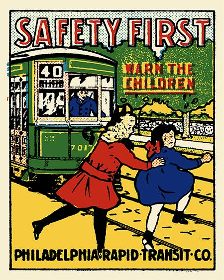NEW! Philadelphia Rapid Transit Safety Print