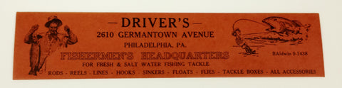 "Driver's ""Fisherman's Headquarters"" envelopes"