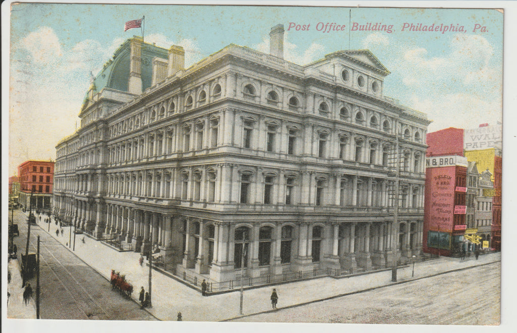 1911 Post Office Building of 9th & Chestnut Philadelphia Posted Postcard Demolished 1937 replaced by the Robert N. C. Nix Sr. Federal Building and United States Post Office
