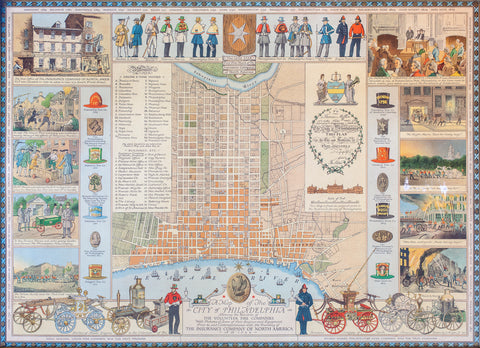 NEW! Fire Companies of Philly Pictorial Map