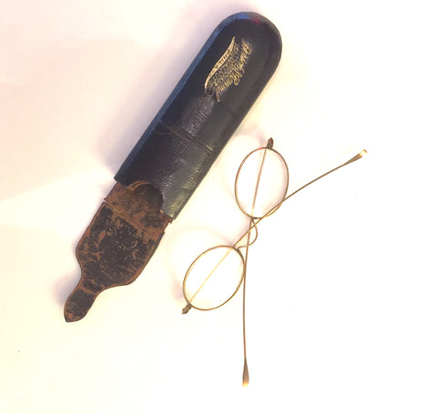 Borsch & Rommel Opticians Eyeglasses and Case, circa. 1920