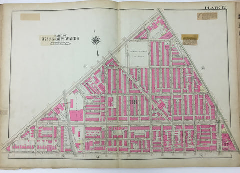 1925 Bromley Atlas - Plate 12 - Tioga: Hunting Park Ave, Simon Gratz High School