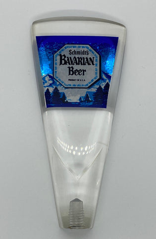 Schmidt's of Philadelphia Bavarian Beer Lucite Tap Handle 5.75 inch