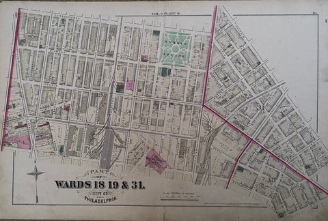 Fishtown & Kensington - 1875 Hopkins Atlas - Wards 18, 19, & 31