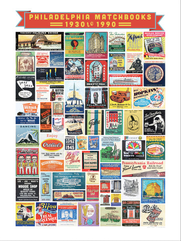 Philly Matchbook Poster a treasure trove of Historic Philadelphia Matchbooks great for framing