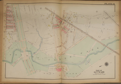 1923 Bromley Atlas - Plate 14 - Feltonville: Rising Sun Ave, Tacony Creek Parkbetween Ruscomb Street, Garland Avenue, and Elliot St