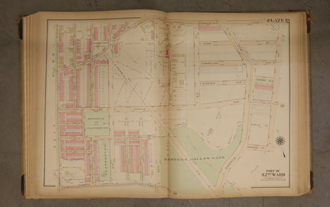 1923 Bromley Atlas - Plate 19 - Logan: Kemble Ave, Harper's Hollow Park