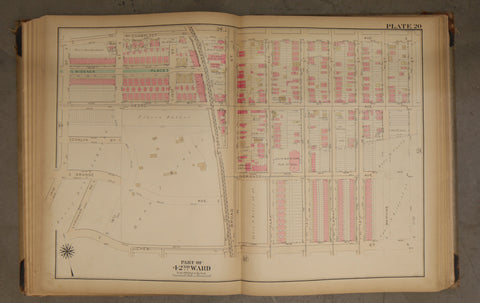 1923 Bromley Atlas - Plate 20 - Fern Rock: Nedro Ave, Julia Ward Howe Public School