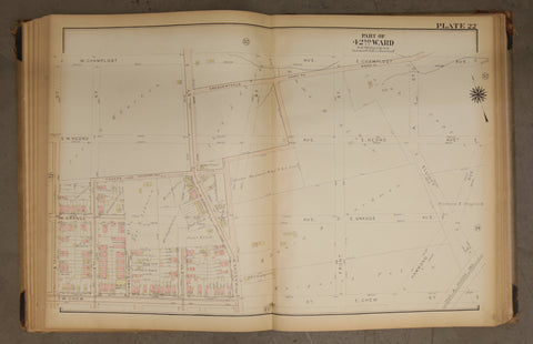 1923 Bromley Atlas - Plate 22 - Olney: Mascher Street, Olney Shopping Center
