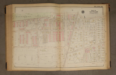 1923 Bromley Atlas - Plate 28 - West Oak Lane: Old York Rd, Oak Lane Free Library
