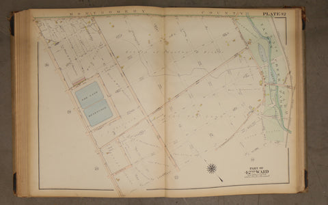 1923 Bromley Atlas - Plate 32 - East Oak Lane: 2nd St, Oak Lane Reservoir