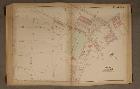 1923 Bromley Atlas - Plate 33 - West Oak Lane: Limekiln Pike, Philadelphia National Cemetery
