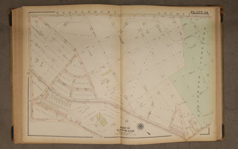 1923 Bromley Atlas - Plate 34 - West Oak Lane:  Ogontz Ave, Northwood Cemetery