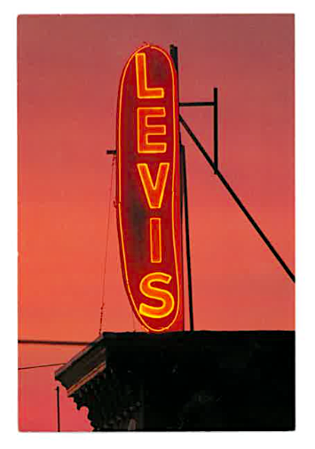 Levis Hot Dogs Postcard