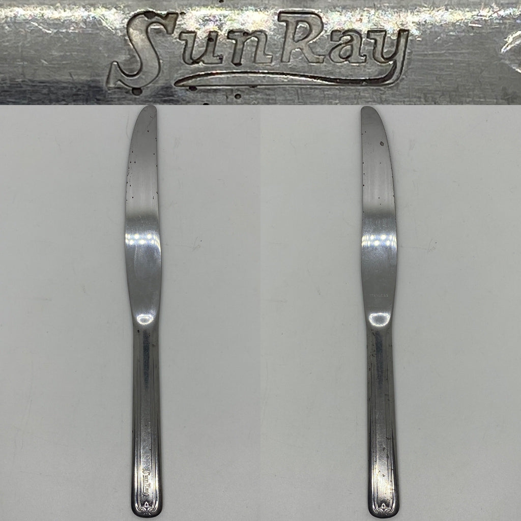 Sunray Drug Co 9 inch Stainless Steel lunch counter silverware Knife this Drug store chain has been a fixture in the greater Philadelphia area for over 70 years