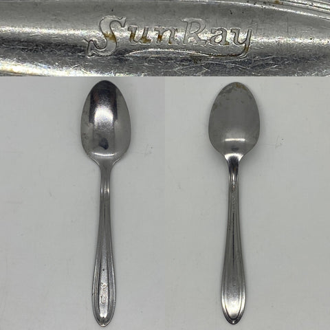 Sunray Drug Co 6 inch Stainless Steel lunch counter silverware spoon this Drug store chain has been a fixture in the greater Philadelphia area for over 70 years