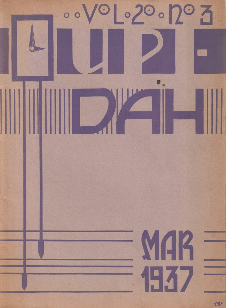 Upper Darby Senior High School UPI-DAH Darby High Arts Magazine for March of 1937 Volume 20 Issue 3