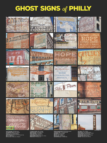 Ghost Signs of Philly Poster