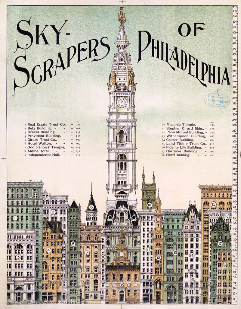 Skyscrapers of Philadelphia print