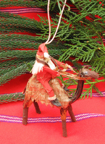 Santa on a Camel Ornament