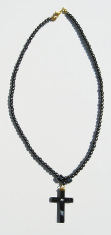 Hematite Cross Necklace