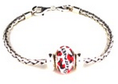 Sterling Starter Bracelet with Journey Bead & 2 Silver Lock Beads