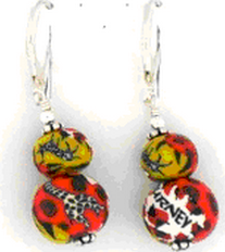 Journey Double Bead Wire Earrings