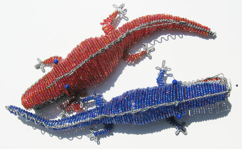 Beaded Wire Crocodile