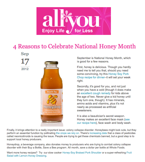4 Reasons to Celebrate National Honey Month