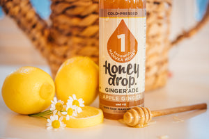 Apple Ginger'ade made with Manuka Honey - 6 bottles