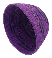 African Mixed Purple Rope Basket