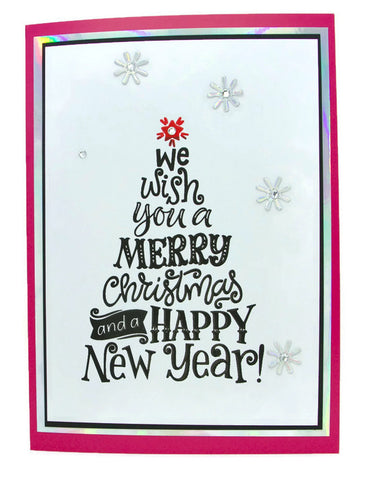 'Merry Christmas and Happy New Year' Holiday Card