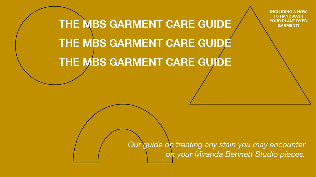 Caring for your MBS Garment