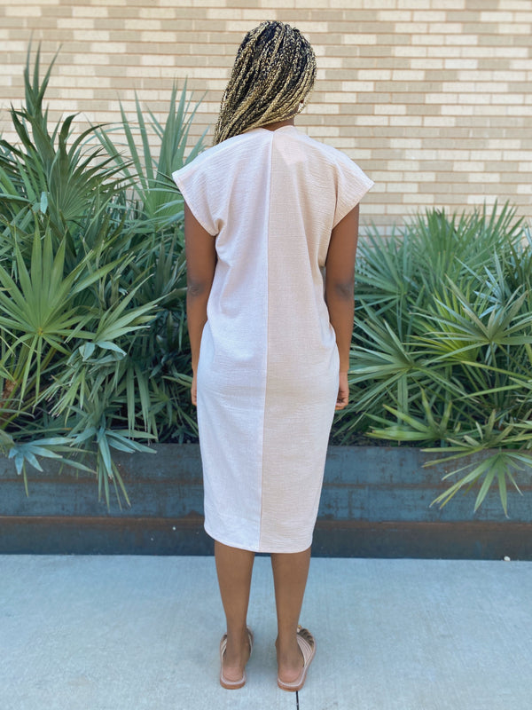 Everyday Dress, Textured Cotton in Pecan FINAL SALE