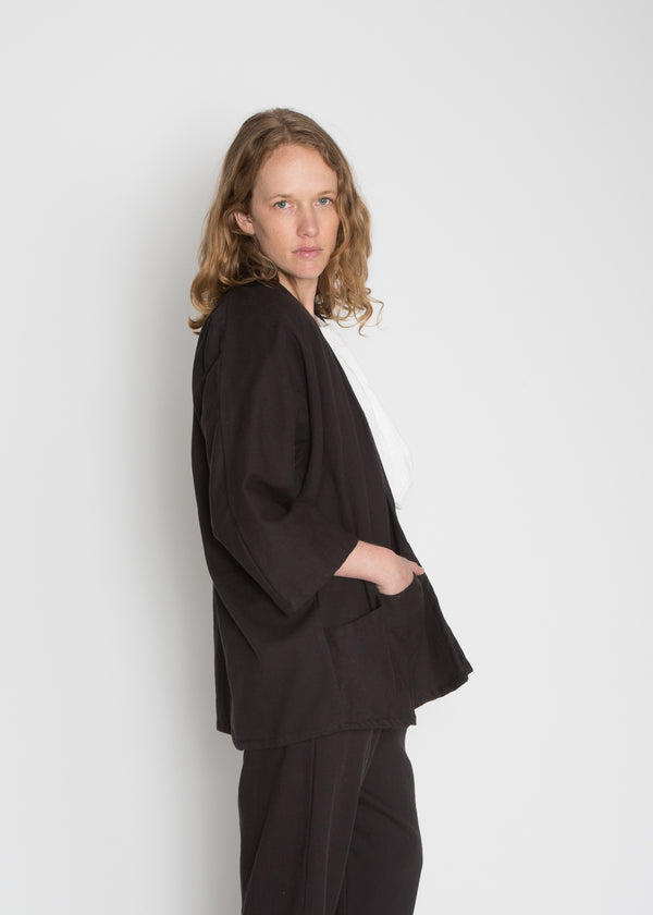 Atwood Jacket, Cotton Lyocell in Black