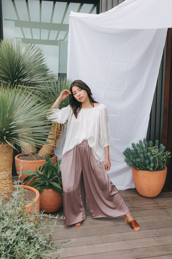 Hepburn Pant, Silk Charmeuse in Supernova