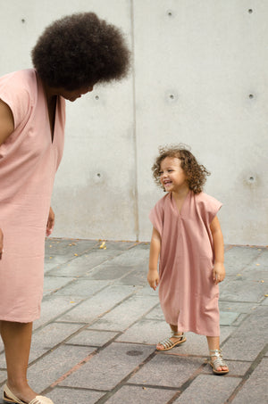 Kid's Everyday Dress, Silk Noil in Nico