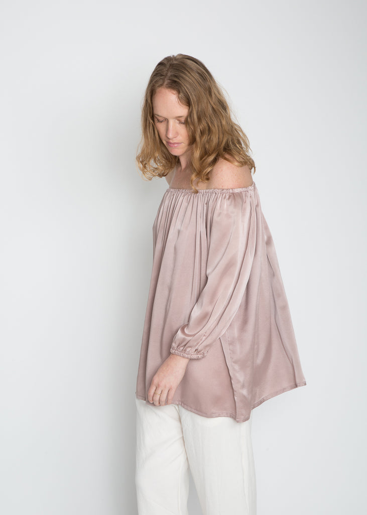 Cassatt Top, Silk Charmeuse in Supernova